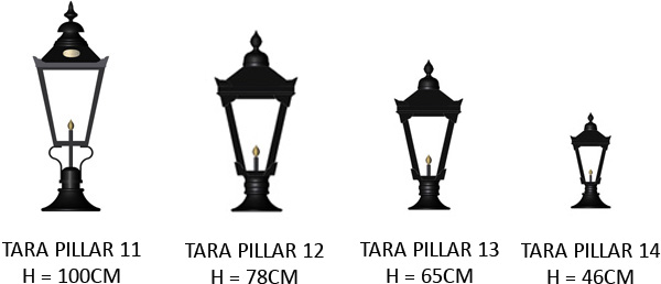 Pillar light pier lighting cast iron pillar light copper pillar tara lighting range audiocablefo Light database